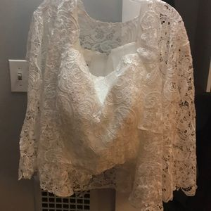 Lace top and jacket
